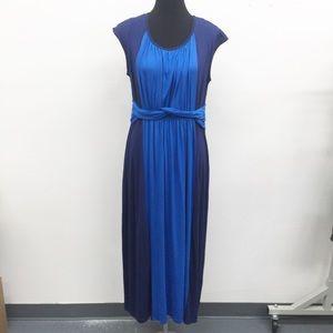 💖 BearsLand Women's Blue Stripe Summer Dress Sz L